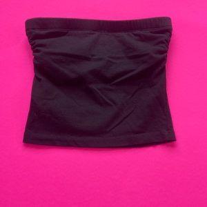 Zenana Outfitters Black Scrunch Tube Top